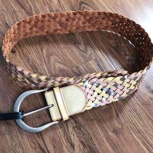 Leather Belt Braided Linea Pelle Medium